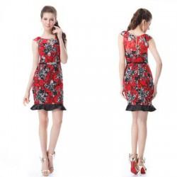 9338f58d41a květované pouzdrové společenské šaty July S
