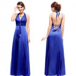 dlouhé modré společenské šaty Amanda M-L