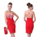 sexy červené krátké společenské šaty M