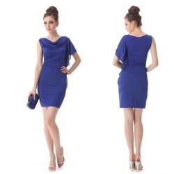 krátké modré společenské letní šaty Rebecca S-M 0f608f078e