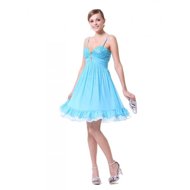 nebesky modré krátké společenské šaty Lilly M - Hollywood Style E ... 5a66f7acb4