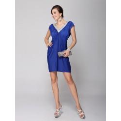 krátké modré společenské šaty Luisa S dd1ecbdc23