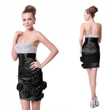 068ada763371 luxusní krátké černé společenské šaty Beka M - Hollywood Style E ...