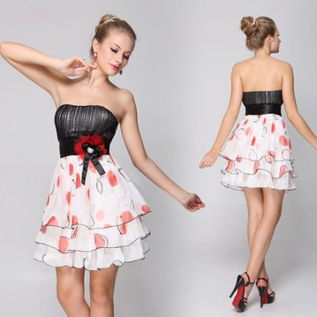 krátké společenské šaty barevné květované M