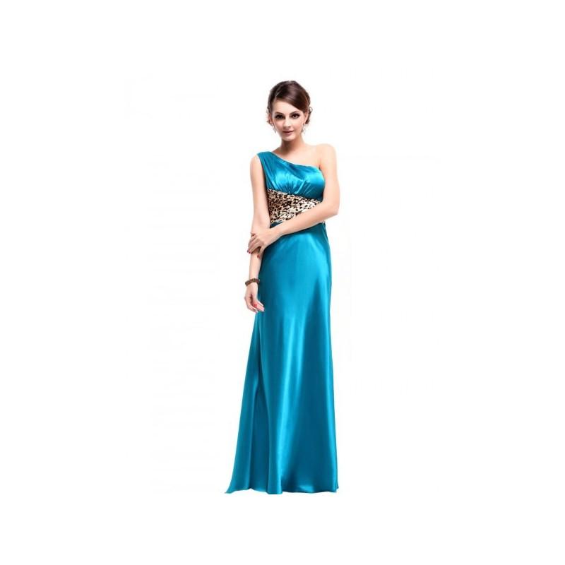 dlouhé modré společenské šaty na jedno rameno L - Hollywood Style E ... df3da5258e