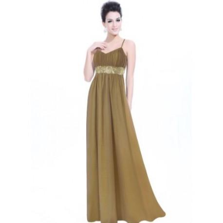 dlouhé hnědé společenské šaty XL