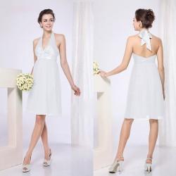krátké bílé společenské šaty koktejlky S a XL