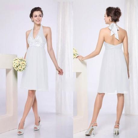 35070681d44 krátké bílé společenské šaty koktejlky S a XL - Hollywood Style E ...