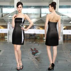 krátké černé společenské šaty koktejlky M
