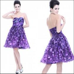 krátké fialové společenské šaty M-XL
