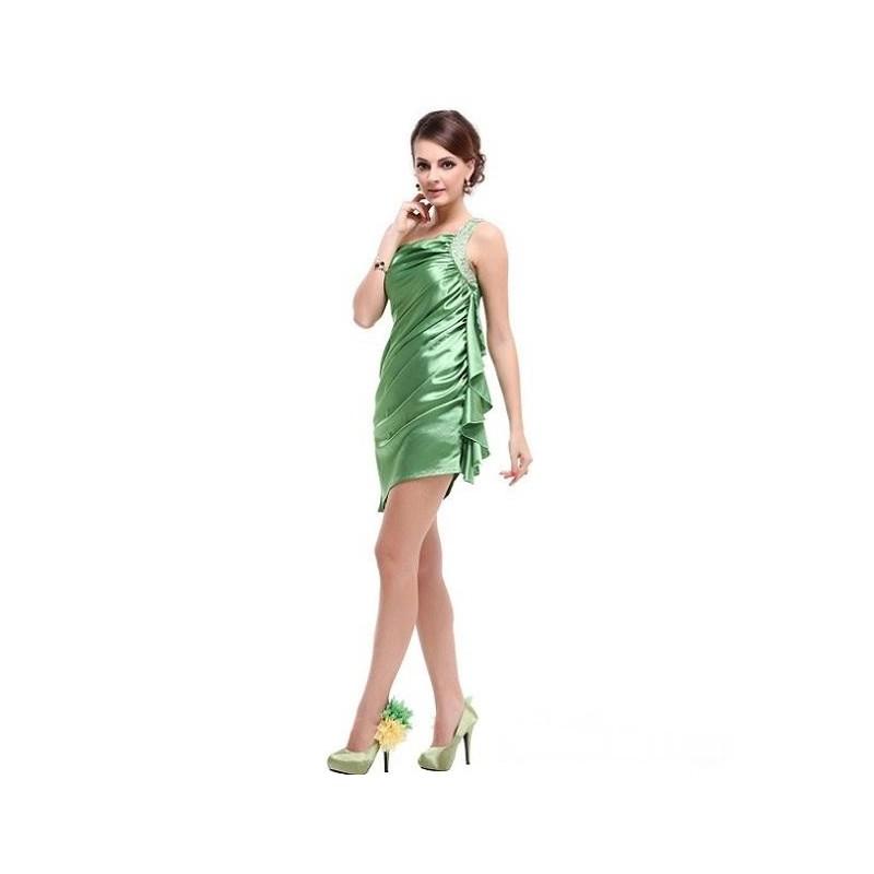 e13003c81b2 luxusní zelené krátké společenské šaty M - Hollywood Style E-Shop ...