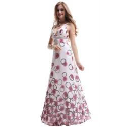 dlouhé bílé puntíkaté společenské šaty Zinoe M