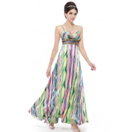 luxusní pruhované barevné šaty Toxic S