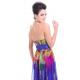 dlouhé barevné společenské šaty květované M
