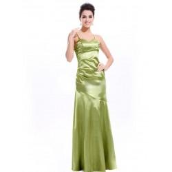 dlouhé zelené společenské šaty L