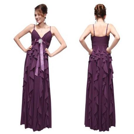 dlouhé fialové společenské letní šaty M