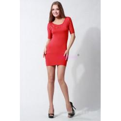 krátké červné společenské letní šaty S