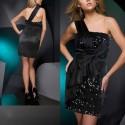 Paty krátké černé společenské šaty M