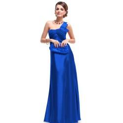 modré luxusní společenské šaty S