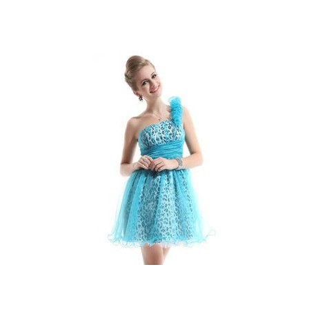 krátké modré leopardí společenské šaty  M-L