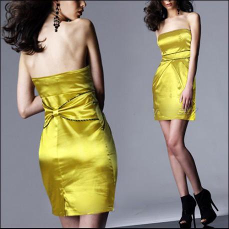 krátké žluté společenské šaty XL