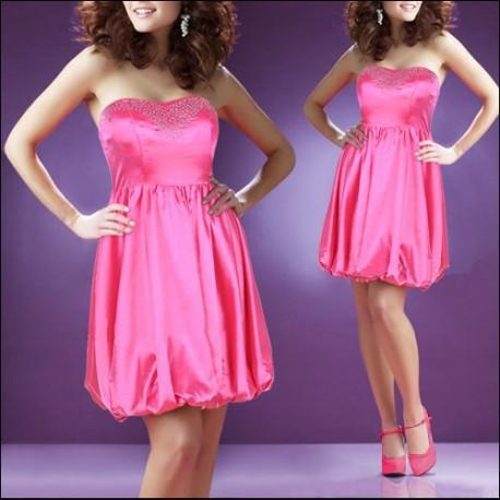 c8bdf899855d krátké růžové společenské balónové šaty M - Hollywood Style E-Shop ...