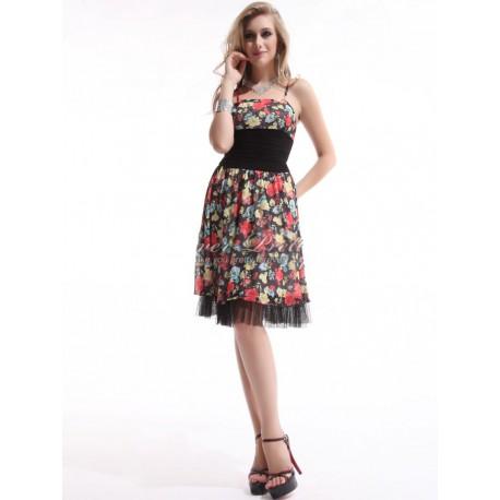 krátké květované letní společenské šaty S - Hollywood Style E-Shop ... 62fa699528
