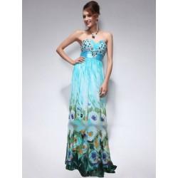 sexy dlouhé společenské modré šaty Sequin M