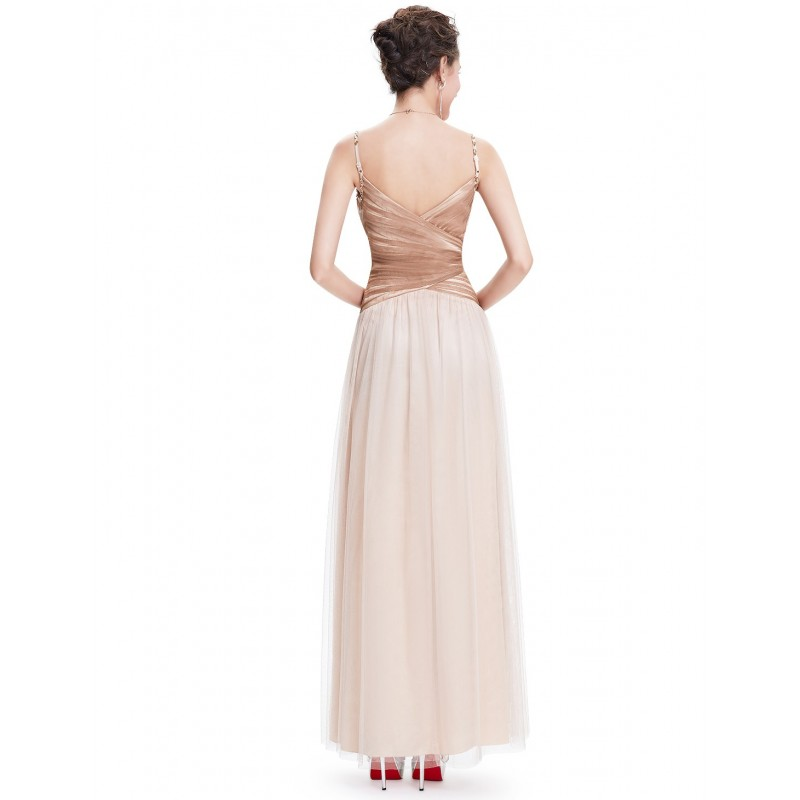 ... champagne krémové plesové šaty se zlatými kamínky Luisa XS ... 3b16f977442
