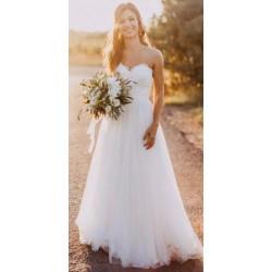 překrásné krémové korzetové svatební šaty Pony XS-S