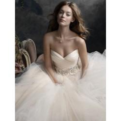 krémové tylové svatební šaty s bohatou sukní Donatella XXL-3XL